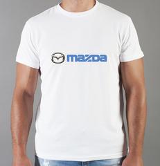 Футболка с принтом Мазда (Mazda) белая 008