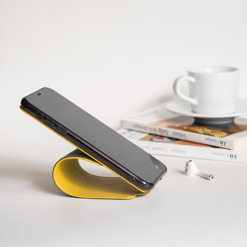 Чехол для iPhone 7 из натуральной кожи теленка, желтого цвета