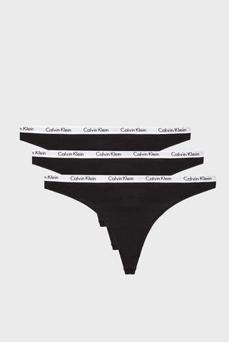 Женские черные трусики (3 шт) Calvin Klein