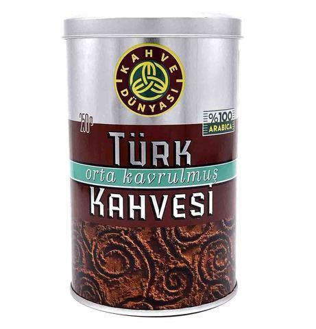 Турецкий кофе молотый средней обжарки, Kahve Dunyasi, 250 г