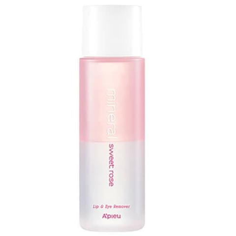 Двухфазное средство для снятия макияжа с губ и глаз A'pieu с розовой водой 100 мл