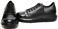 Черные кроссовки сникерсы женские EVA collection 0721 All Black.