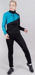 Утеплённый женский лыжный костюм Nordski Premium Blue-Black W