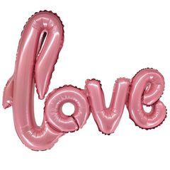 К Надпись, Love, Розовая, 39