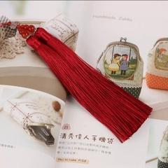 Кисть декоративная,двойная, длина 18 см (выбрать цвет)