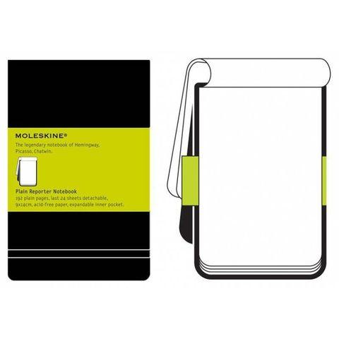Блокнот Moleskine REPORTER QP513 Pocket 90x140мм 192стр. нелинованный твердая обложка черный