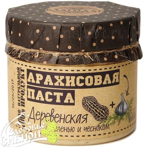 Арахисовая паста Деревенская с зеленью и чесноком, 300 г