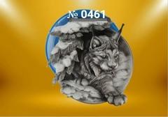 Силиконовый молд   Рысь   (медальон)  № 0461