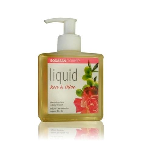 Мыло жидкое для лица и тела, Sodasan, олива/лаванда, роза, цитрус /цитрус олива /, 300 мл