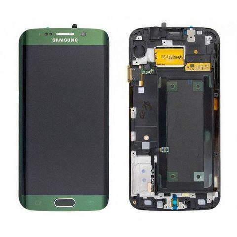 LCD SAMSUNG Galaxy S6 Edge G925F + Touch + Frame Green Orig