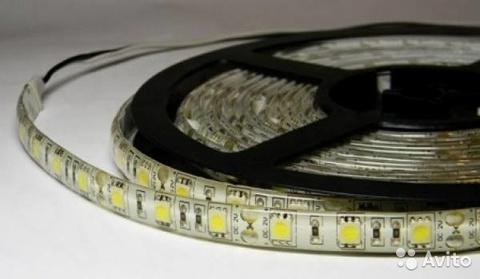 Светодиодная лента SMD5050/60, 12V. IP65. Белая теплая.