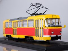 Tram Tatra T3SU bright-yellow-red 1:43 Start Scale Models (SSM)