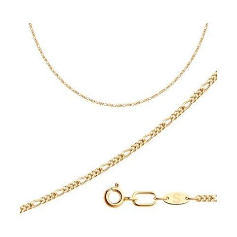 581120402 - Цепь из золота 585 пробы  плетение фигаро