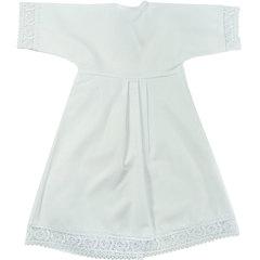 Папитто. Крестильный набор для девочки (платье, косынка, пеленка), белый