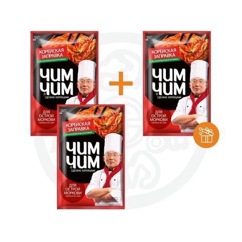 2 + 1 Корейская заправка для моркови острой ЧИМ ЧИМ 60г