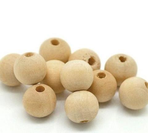 056-4925 Набор бусин деревянных, 1 см-10 шт.