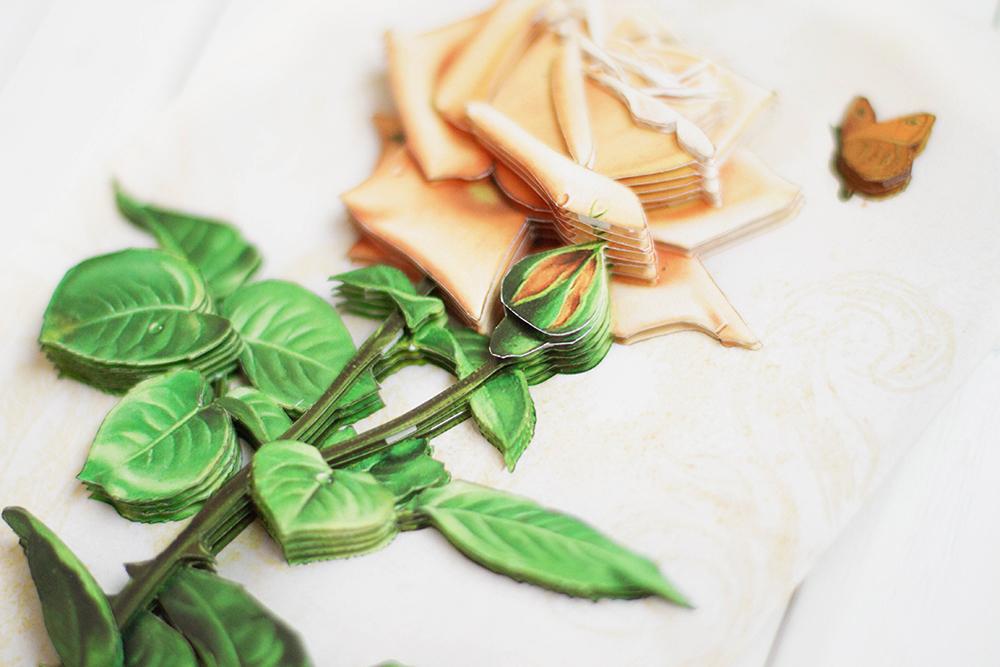 Винтажная роза - готовая работа, детали сюжета.
