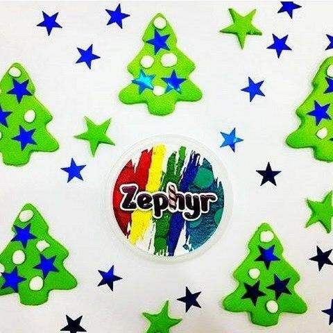 Кинетический пластилин Zephyr (Зефир) в дой-паке, зеленый 300 гр