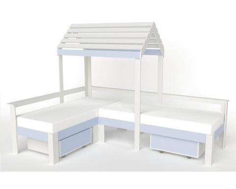 Кровать-домик АВАРА-3 с ящиками правая 1700-700 /2552*1800*1832/