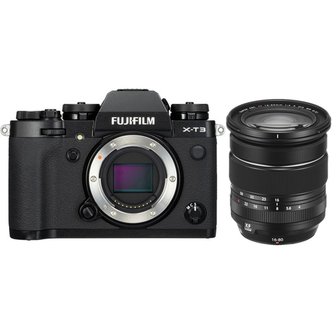 Fujifilm X-T3 Kit XF 16-80mm F4 R OIS WR Black