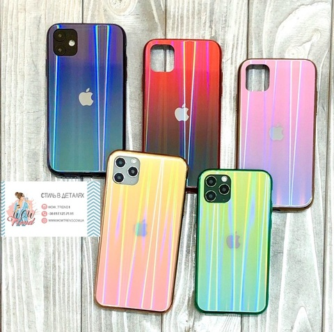 Чехол iPhone 11 Glass Shine Case Logo /green/