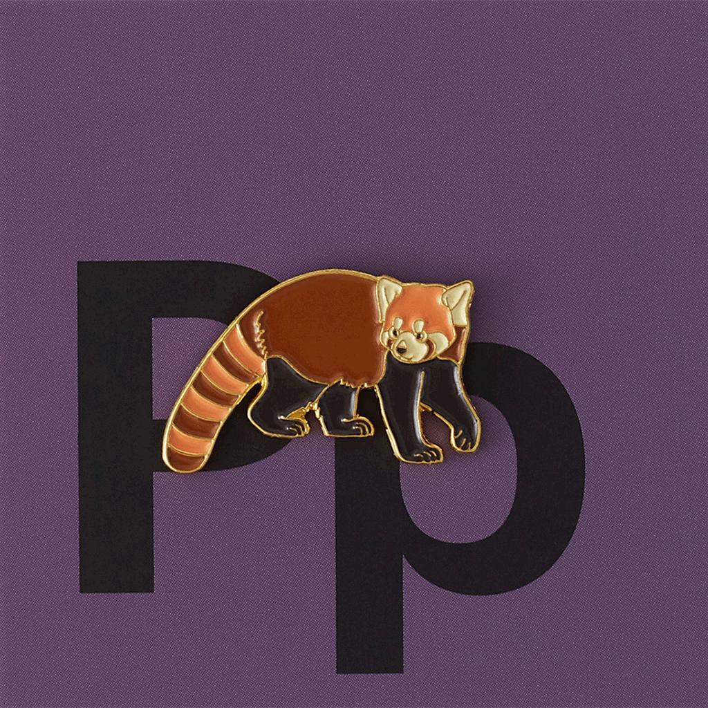 Значок металлический Зоопарк: Красная панда