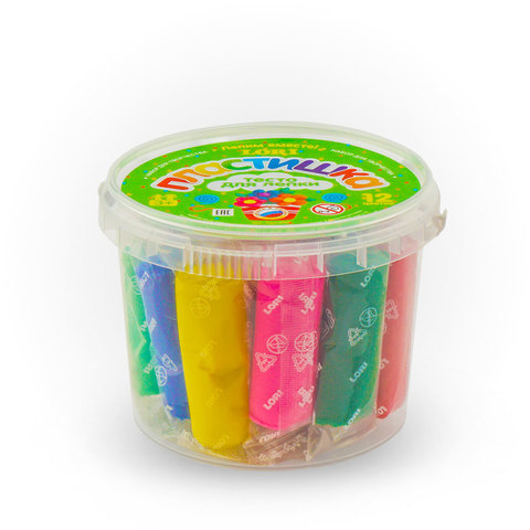 Тесто для лепки. Пластишка. Набор №3 (12 цветов по 24 гр.), Тдл-003