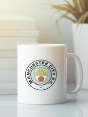 Кружка с изображением FC Manchester City (ФК Манчестер Сити) белая 004