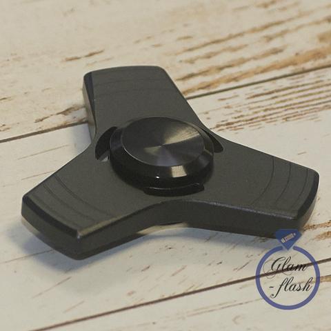 Спиннер металлический классической формы цвет черный trngl_001_black