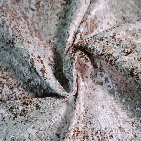 Ткань жаккард розовый с бронзовым 3098