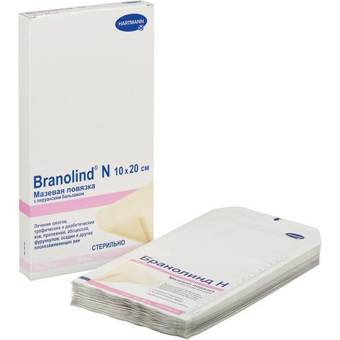 Мазевая повязка Branolind N с перуанским бальзамом 10х20 см (30 штук в упаковке)