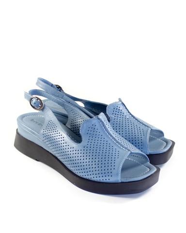 синие босоножки Mario Muzi