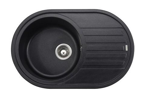 Кухонная гранитная мойка Kaiser KGM-7750-BP черный мрамор