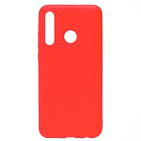 Чехол для Huawei Honor 10i/20e Софт тач мягкий эффект   микрофибра красный