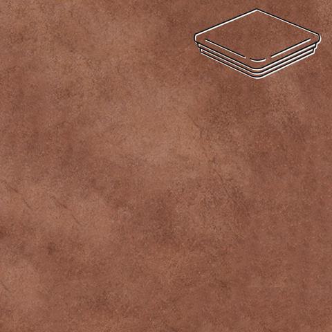 Interbau - Nature Art, Cognac braun/Шоколадный 320x320x9,5, цвет 114 - Ступень флорентийская угловая