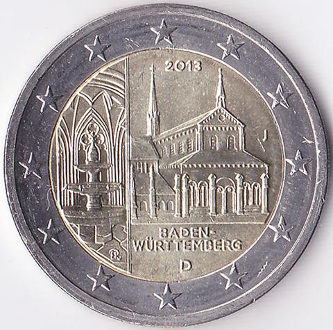Германия 2 евро 2013 Баден-Вюртемберг