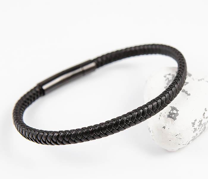BM529-1 Тонкий мужской браслет из плетеного шнура фото 05