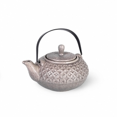 9392 FISSMAN Чайник заварочный 800мл с ситечком, цвет Серый песочный (керамика)