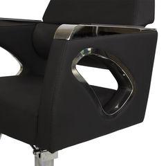 Парикмахерское кресло МД-311 гидравлика хром, квадрат хром со съемной подножкой