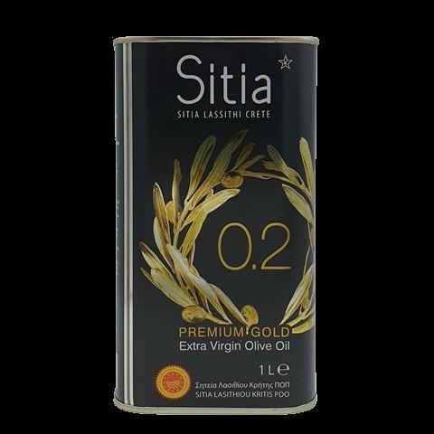 Масло оливковое нерафинированное Extra virgin SITIA P.D.O., 1 литр