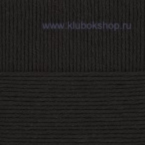 Пряжа Молодежная Пехорский текстиль черный 02