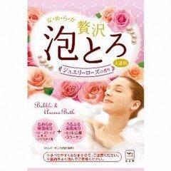 Пенящаяся соль для ванны Gyunyu sekken с коллагеном и гиалуроновой кислотой 30 гр