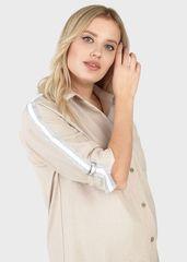 Рубашка для беременных цвет бежевый