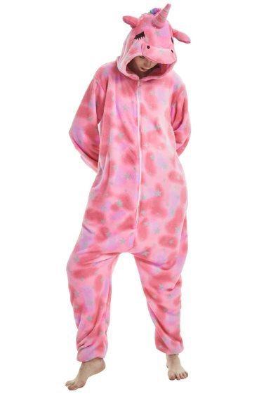 Пижама Кигуруми Единорог Звездно-розовый