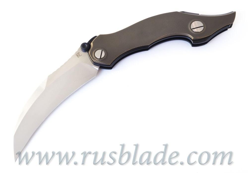 CKF Krokar Raven Ti knife (Konygin, Ti, Zirc, M390) - фотография