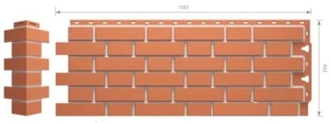Фасадные панели Docke FLEMISH Красный (под кирпич)