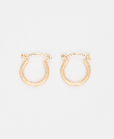 Серьги ROUND HOOP GOLD small