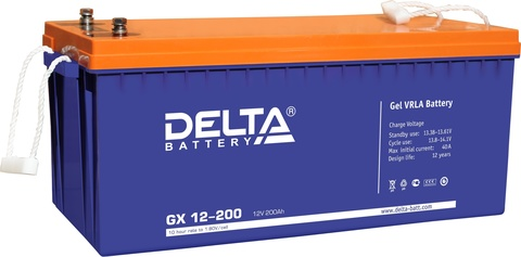 Аккумулятор тяговый DELTA GX 12-200 Xpert