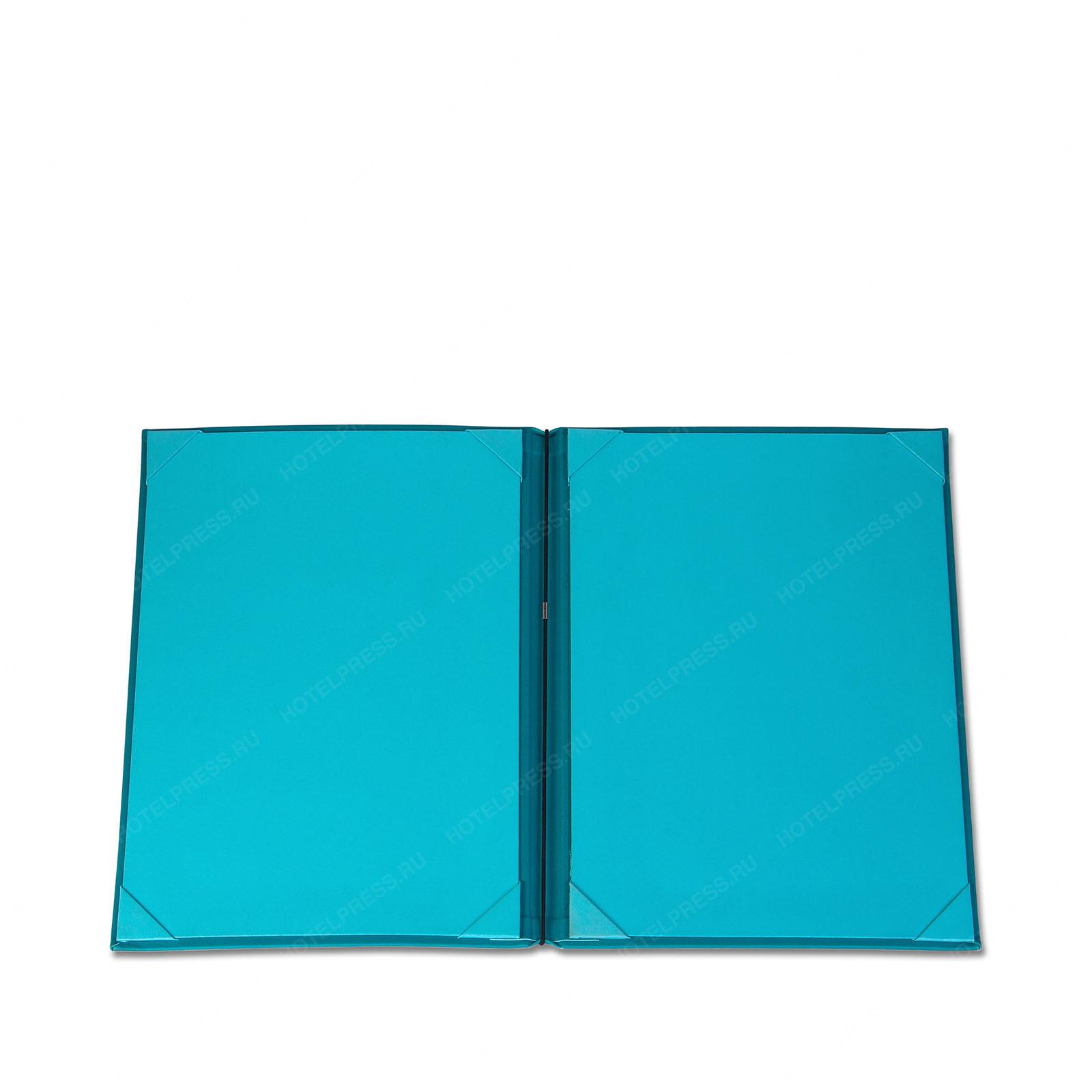 Папка салона красоты с креплением прайса на резинках и карманами для спецпредложений