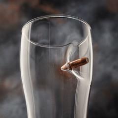 Пивной бокал с пулей «Real bullet»  крафт, 500 мл, фото 3